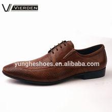 Coffee genuine leather upper cool man dress shoe 2014