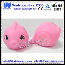 PVC fish rubber toy/swimming plastic pink fish/tropic fish