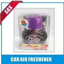 Beauty product glass bottle liquid car air freshener