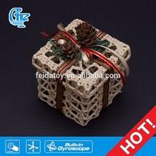 Crochet knitting foursquare christmas gift box