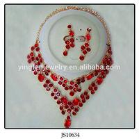 Crystal Filled Indian Stylish Fake Gold Jewelry Set Wedding Jewellery Designs