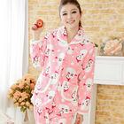 100 polyester coral fleece bathrobe sleep robe 02