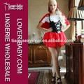 tradizionale 3 pezzi Cappuccetto Rosso divertente mago signora costume di carnevale