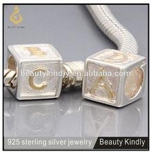 European Style Bracelet Guaranteed 100% 925 Sterling Silver Letter C Bead Charms Women Jewelry Fits P* Bracelet Hot Selling