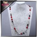 blanco collar de perlas de cristal con collar de perlas reales precio