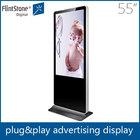 Flint Stone 55inch Floor Standing Kiosk, lcd commercial advertising ,elevator display screen