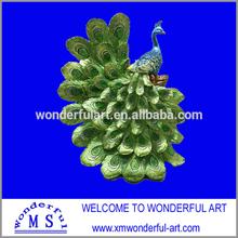 2014 best selling resin elegant peacock decoration