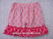 Light pink quatrefoil baby shorts factory direct sale