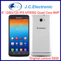 Rooted Lenovo S930 Phone With MTK6582 Quad Core Android 4.2 3G GPS WIFI 6.0 Inch Screen Multi-Language SmartPhone