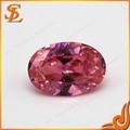 Pink oval de pedra da cz preço, pedras de zircônia cúbica