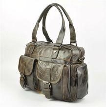 arr5142 fashion genuine leather men bag travelo handbag with many pocket