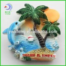 Down at the beach coconut tree resin 3d fridge magnet
