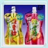 bottle shape milke spout bag with full color/custom shape juice plastic bag with spout on top