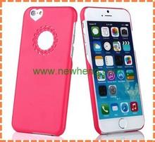 luxury heart shape matte pc Case for iphone6/6 plus