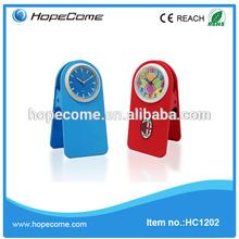 (HC1202) promotional gifts desktop digital clip clock plastic manufacturer