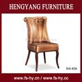 ゴールド革のカフェの椅子のレストランの椅子