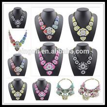 Shourouk Bib colorful Necklace Bridesmaid statement Jewelry fashion jewelry,Lily