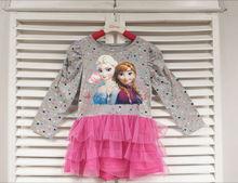 wholesale for frozen dress elsa Party Dresses Kids Clothing Baby Clothes