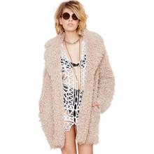 2014 new long faux fur windbreaker coats for women haoduoyi