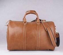 acr5326c brown genuine leather duffle bag men traveling bag hand bag