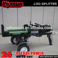 Farm machinery CE approved Kohler Ducar petrol engine large commercial 26t log splitter valve