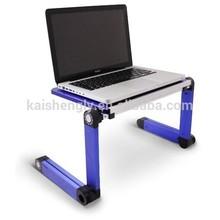 mini portable folding bamboo laptop desk in bedroom