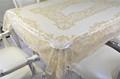 Creme vestido de renda / EZS hot stamping tampa de tabela largura 137 cm em rolo