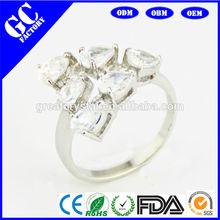 Fashion women imitation diamond ring design wedding ring hot sale