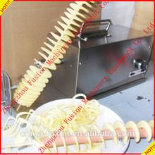 High efficiency twist potato spiral cutter machine