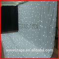 Hot wlk-2w branco fogo pano de veludo branco diodos emissores de luz de fundo led cortina de luz mostram