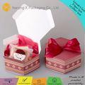 Personalizada impresa caja de torta x-614 petits fours torta de la boda caja