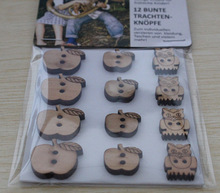 natural wooden button with high quality real comfort clothing