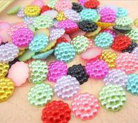 mobile phone/ Jewelry Accessory 13mm 2272pcs/bag beautiful mixed color flower shape craft flatback imitation pearls