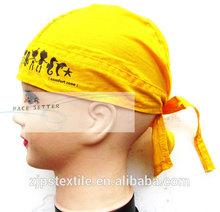 skull cap bandana, scarf 100% cotton colorful reactive dye triangle binder bandana