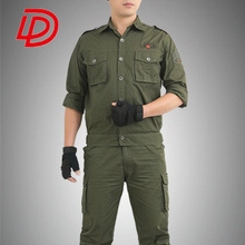 new auxiliary forces suit American Army Woodland Camouflage Suit Military Clothing Vertical Collar Fighting Training Uniform