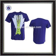wholesale mens fashion short sleeve funny printing tuxedo t shirt