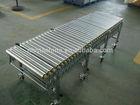 gravity flexible extendable galvanized carbon steel roller conveyor carton/pallet carrier