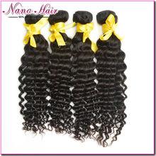 Free sample Nana deep wavy 100% Raw unprocessed short Brazilian hair weave Brazillian hair weave
