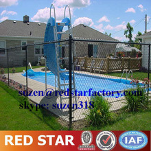 ISO 9002 playground black vinyl coated chain link fence