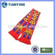 Barcelona football fan scarf