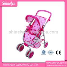 Folding Six wheel doll travel system stroller & carrier
