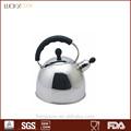 de alta calidad de té tetera stock de acero inoxidable silbando hervidor de agua