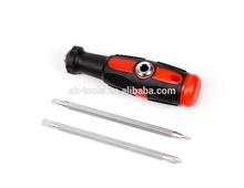 SD5018B 4 in 1 screwdriver , 2 tone grip handle, chrome vanadium material