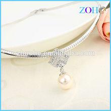 wholesale fashion jewelry pearl pendant collar for women dress