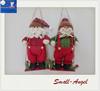 """2014 Christmas Hanger decoration 13.5"""" Santa-man/Snowman Playi ng Swing"""