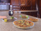 hot sales oven and microwave safe heat resistant borosilicate glass pizza pan