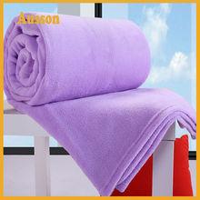 hot sale fleece extra soft custom design purple blanket