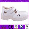 genuino blanco transpirable de cuero zapatos de la enfermera