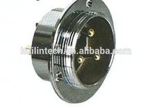 Metal circular 3 poles waterproof 30M-3E flange socket connectors