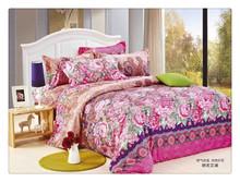 Soft floral 115-120GSM microfiber reactive printed branded bed sheet